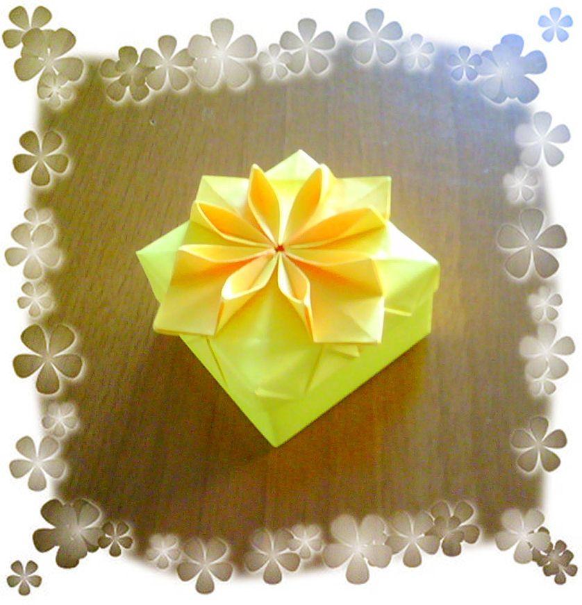 Origami flower box new version flower boxes origami and box origami flower box new version katrins18 flickr mightylinksfo
