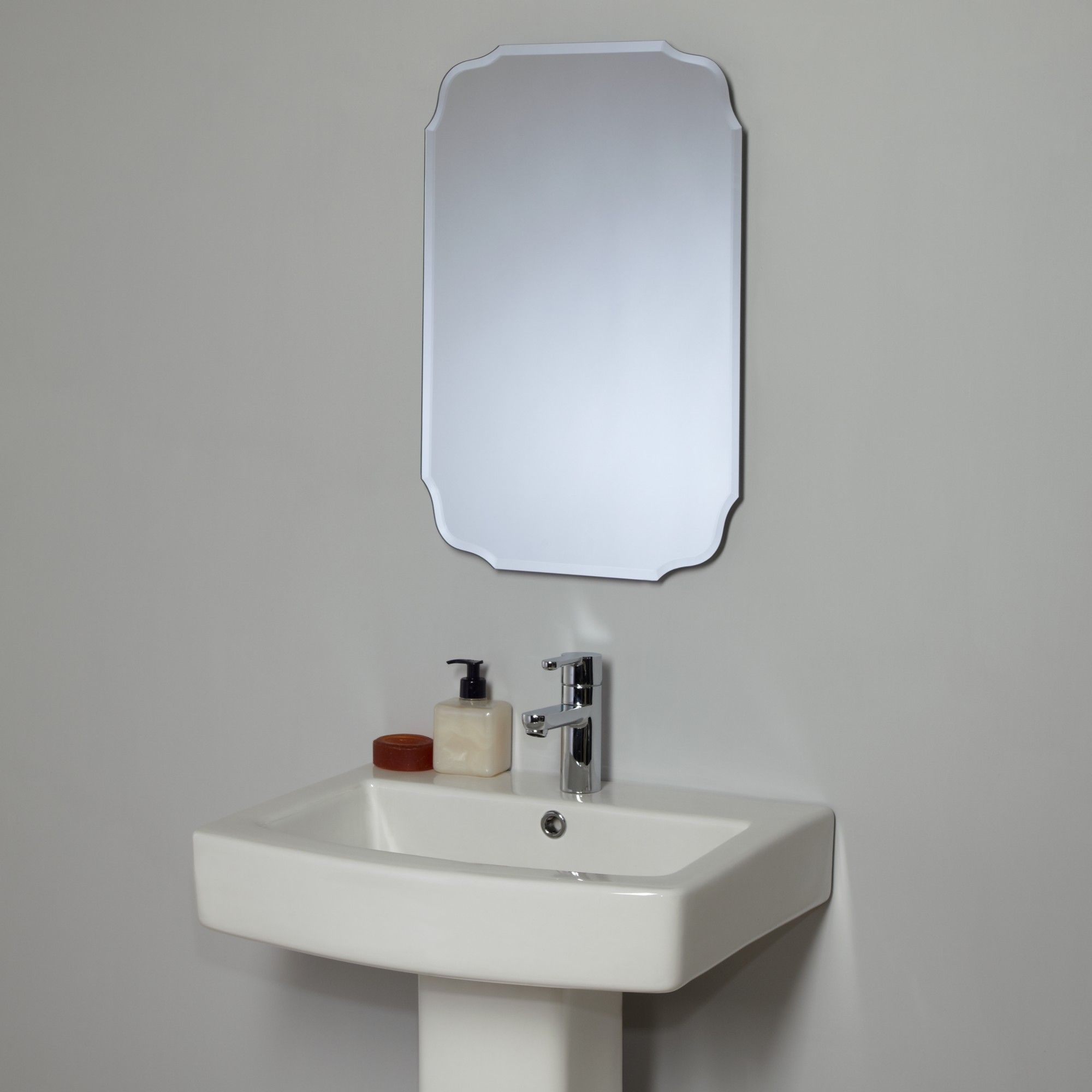 Buy John Lewis Vintage Bathroom Wall Mirror line at johnlewis