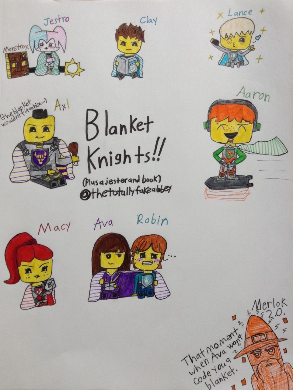 Nexo Knights Merlok Ausmalbilder : Jestroftw Drew The Nexo Knights Characters As Some Adorable