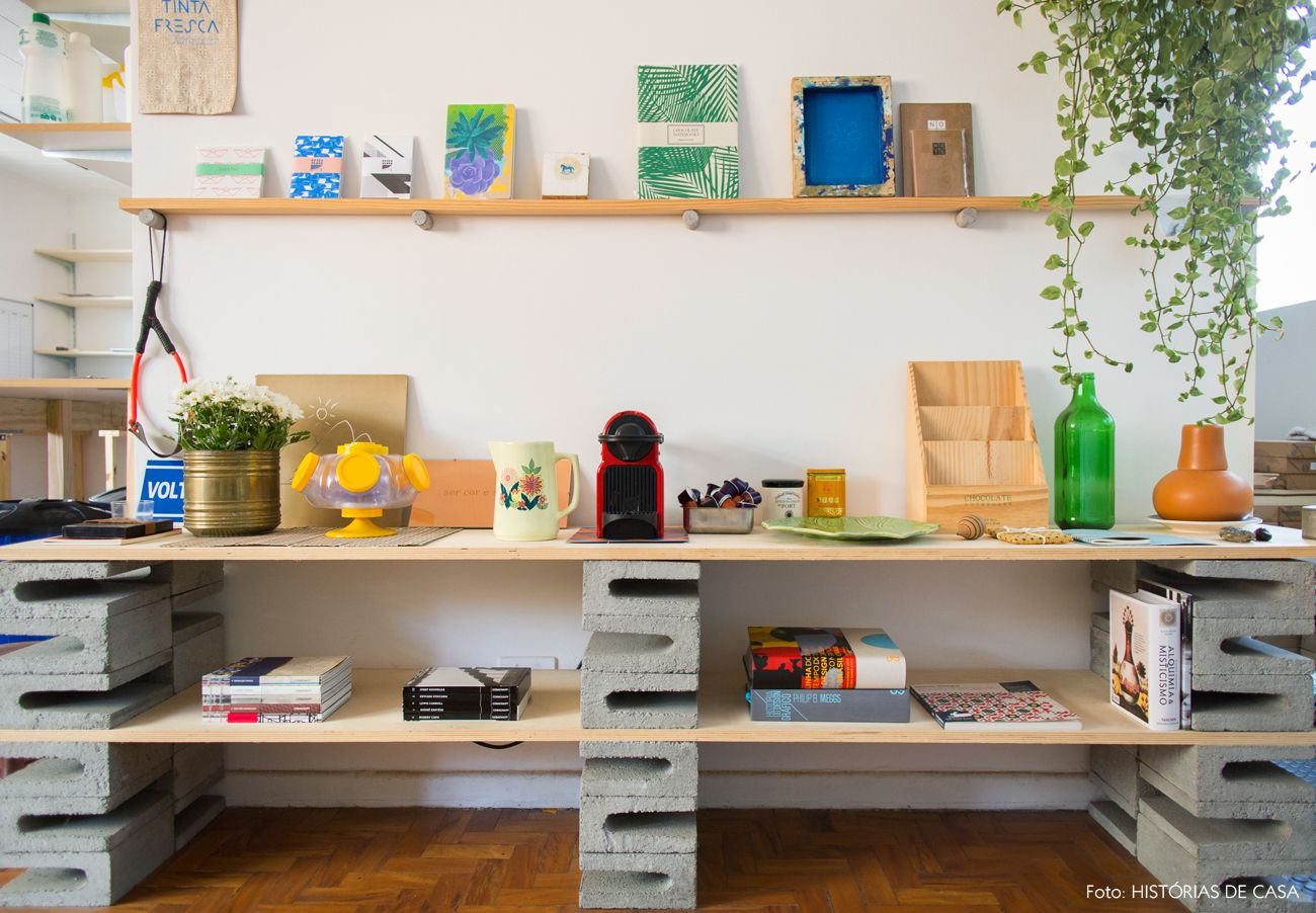 Chocolate Notebooks Cadernos Artesanais Cinder Cinder Block  -> Sala De Tv Improvisada