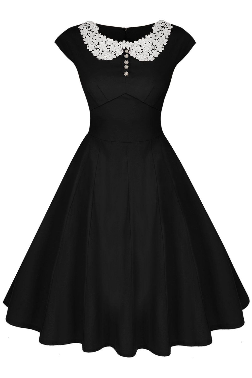 9daaa3b4f 1940s Dress Styles Audrey Hepburn Style 19d0s Rockabilly Evening Dress  $26.50 AT vintagedancer.com