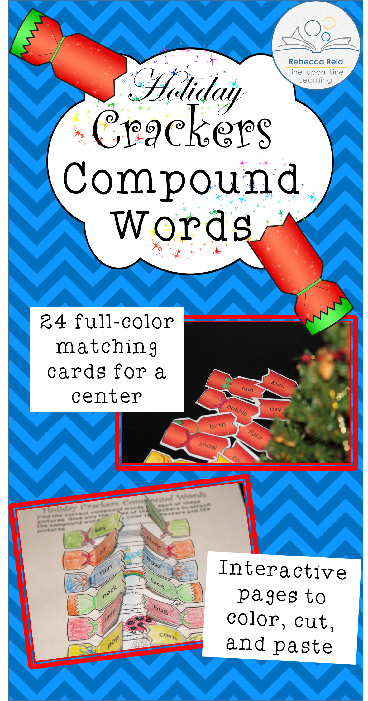 Compound Words Center And Interactive Worksheets Holiday