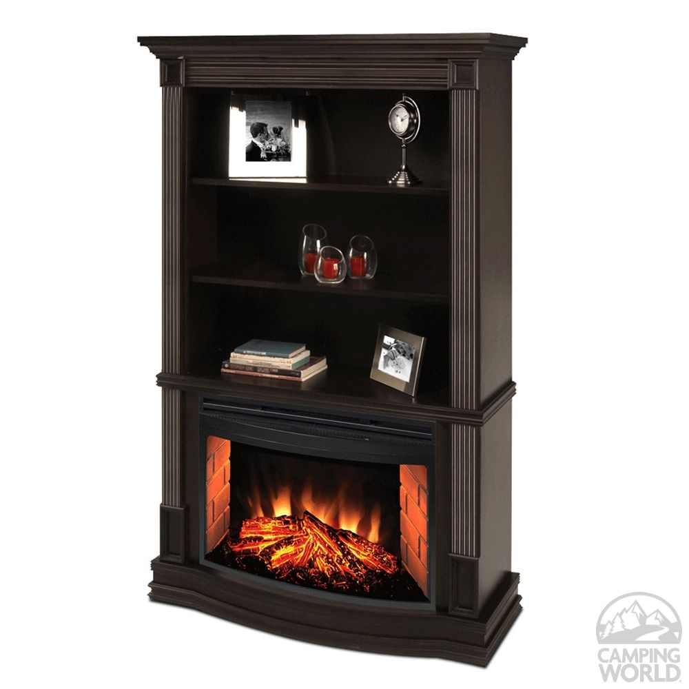 Muskoka Picton Electric Fireplace With Bookshelves Greenway Home Products Mefc2500e Electric Firepl Fireplace Seating Fireplace Bookcase Electric Fireplace
