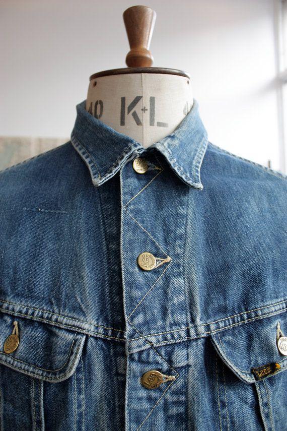 Vintage 1970s Lee Riders Denim Jacket Mens Medium By Waysideflower Denim Jacket Lee Denim Jacket Denim Jacket Men
