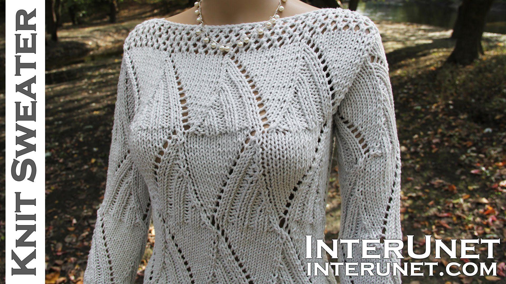 Knit a sweater - women\'s long-sleeve sweater knitting pattern ...