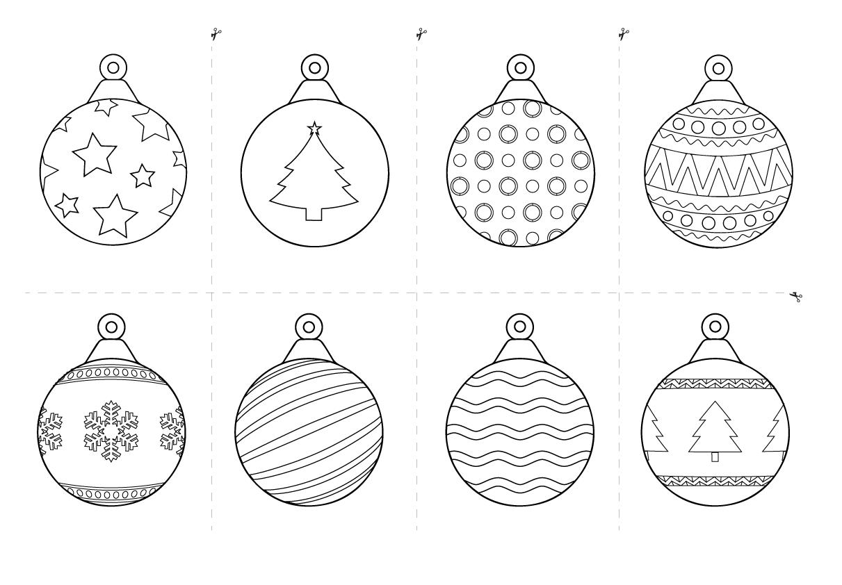 Printable Christmas Baubles