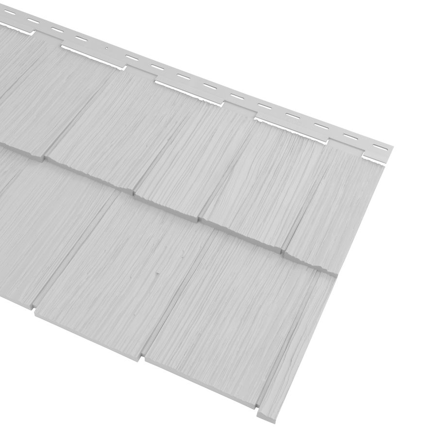 Georgia Pacific Cedar Spectrum Vinyl Siding Panel Hand Split Shake Gray 20 375 In X 57 5 In At Lowes Com Georgia Pacific Vinyl Siding Vinyl Siding Panels Vinyl Siding