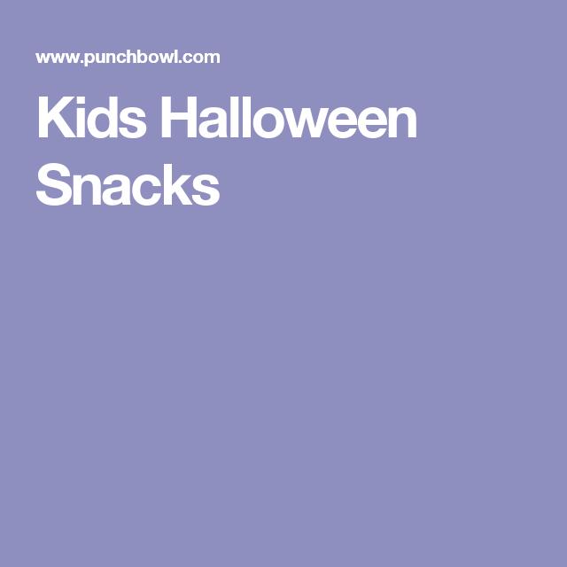 Kids Halloween Snacks