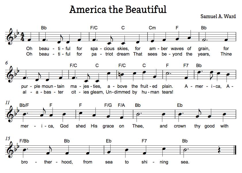 America the Beautiful | Song: America the Beautiful - Katharine ...