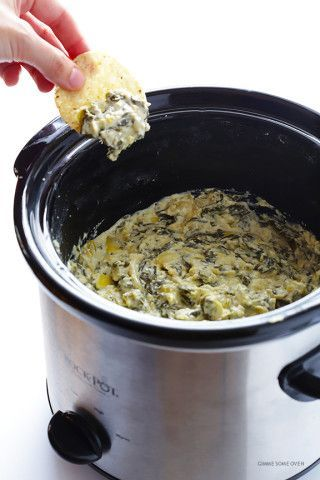 Cooker Spinach Artichoke Dip Slow Cooker Spinach Artichoke Dip -- the delicious dip we all love, made extra quick and easy in the crock pot | Crocker  Crocker is an archaic synonym of potter.
