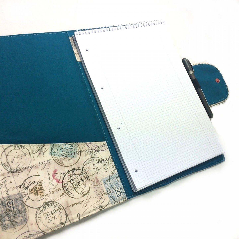 Schreibmappe / Konferenzmappe – Kostenlose Schnittmuster und Foto ...