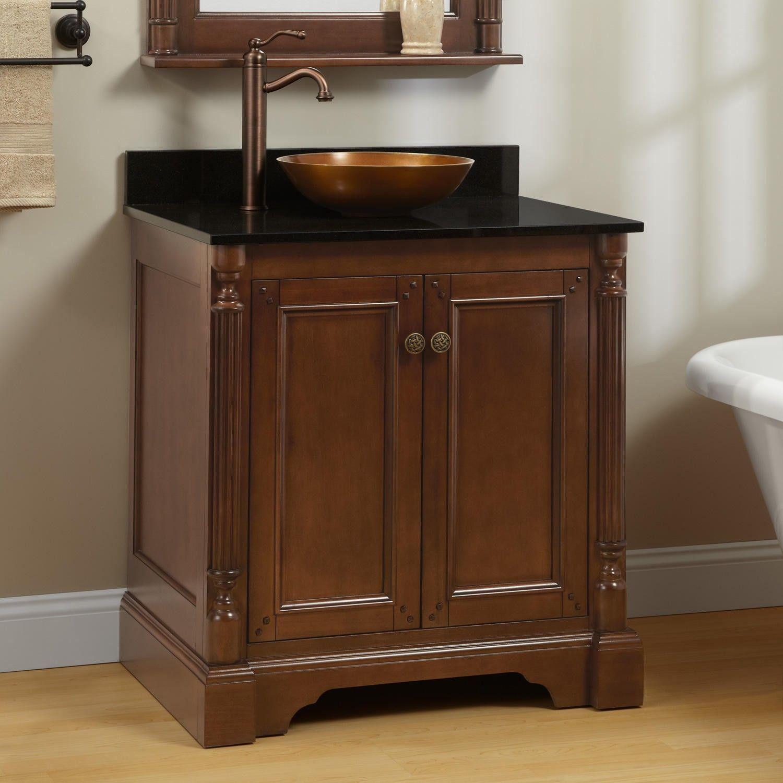 30 Trevett Vessel Sink Vanity Walnut