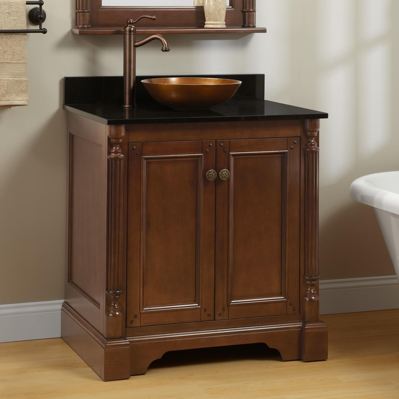30 Trevett Vessel Sink Vanity Walnut Vessel Sink Vanity