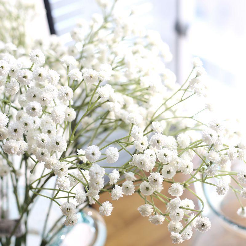 90 Heads Artificial False Flowers Baby S Breath In 2020 Fake Flower Bouquet Wedding Fake Flowers Artificial Flowers