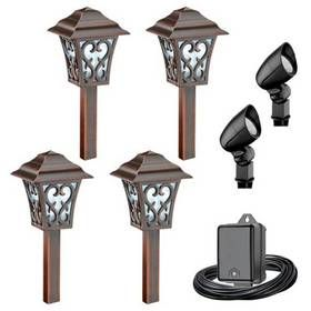 Malibu Aurora 6pc Led Coach Style Light Kit Gifts For Him