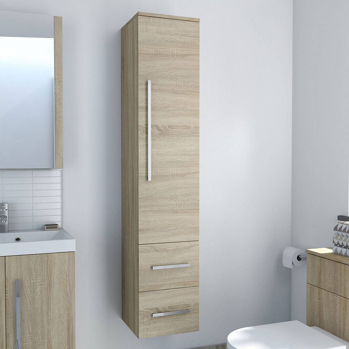 Drift Sawn Oak Tall Cabinet - Now £149.99 - Less Than Half Price ...