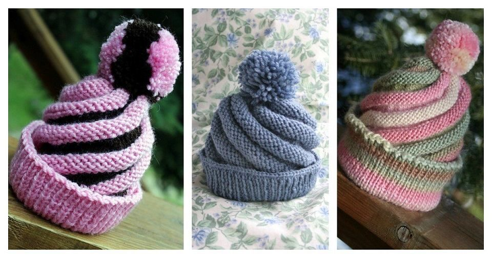 e403269e49d This lovely swirled ski cap will keep you warm. The Free Knitting Pattern  is going to help a lot of you who have been in a search of a decent hat  project.