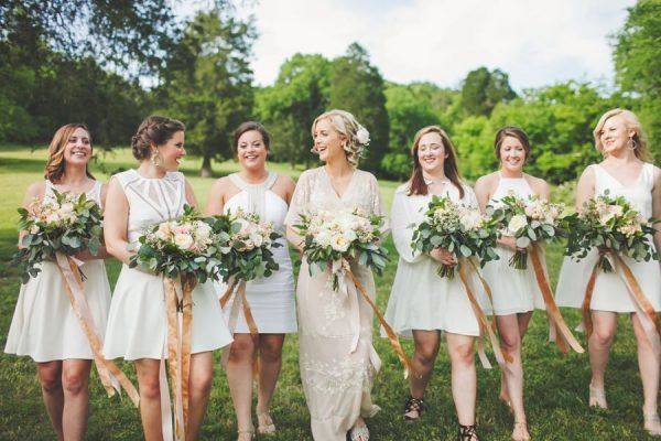 Eclectic Nashville Wedding With A Blush Kimono Gown
