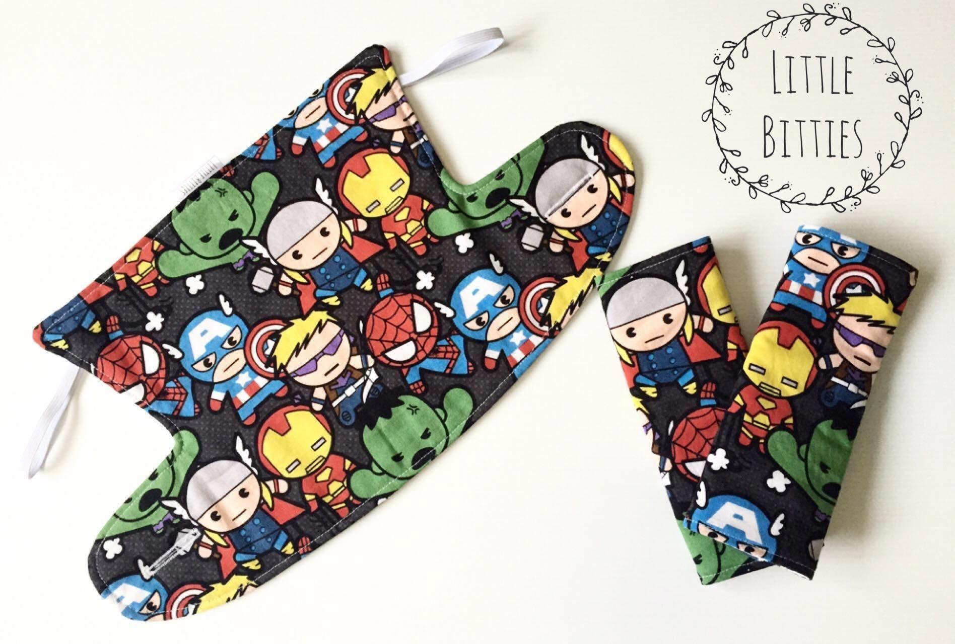 45a7eb6c228 Ergo 360 Bib Cover and Drool Pads. Marvel!! Made by Little Bitties and  available to order from our facebook page.  babycarrier