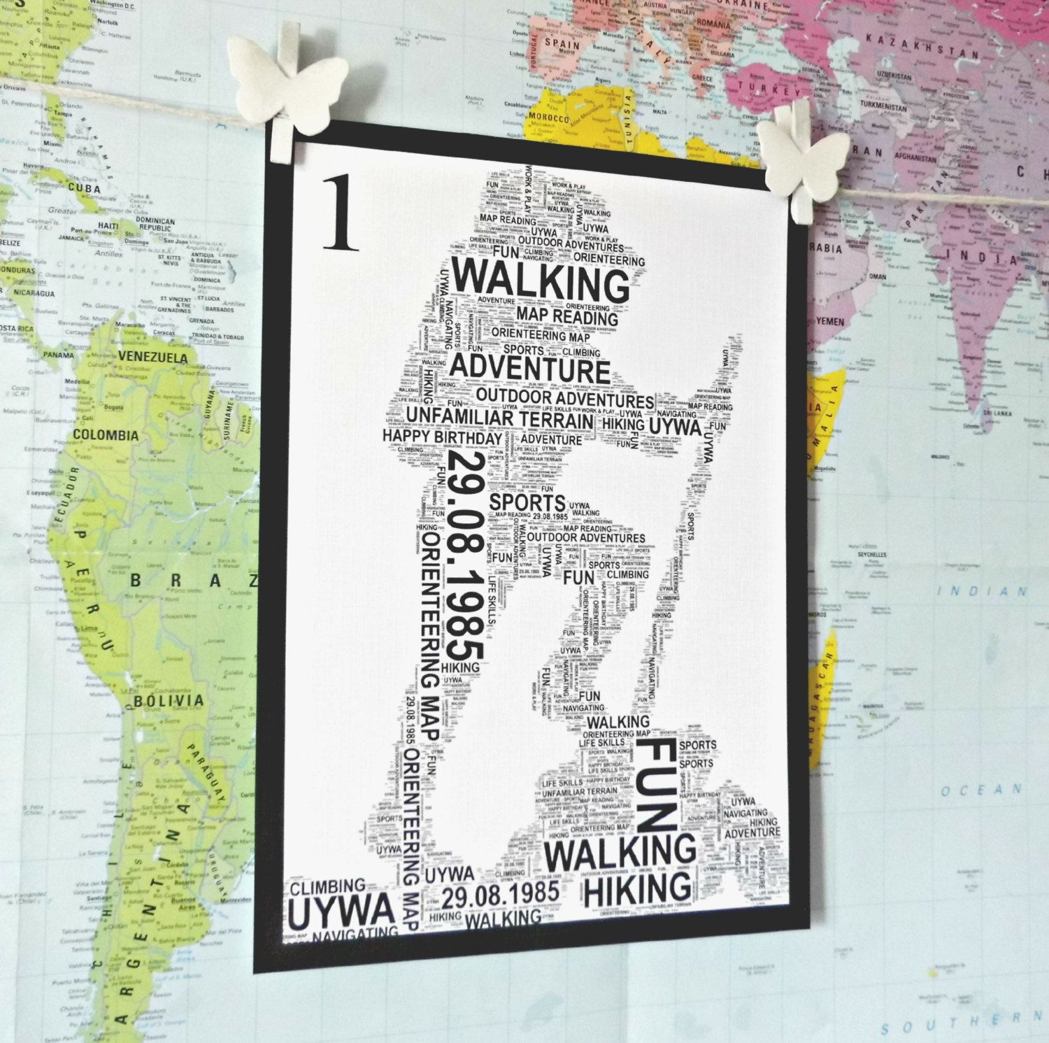 Hiker personalised word art print free uk pp unique gift hiker personalised word art print free uk pp unique gift outdoors gumiabroncs Choice Image