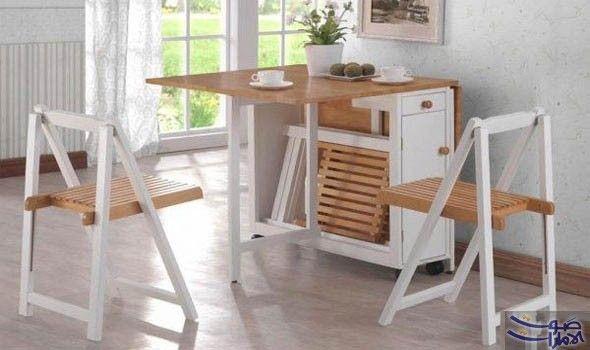 الطاولة القابلة للطي علاج للمساحة الصغيرة في مطبخك تعتبر طاولة الطعام واحدة من أهم القطع Folding Dining Table Space Saving Dining Table Folding Kitchen Table