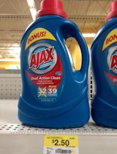 Ajax Laundry Detergent Just 1 25 At Walmart Ajax Laundry Detergent Walmart Ajax