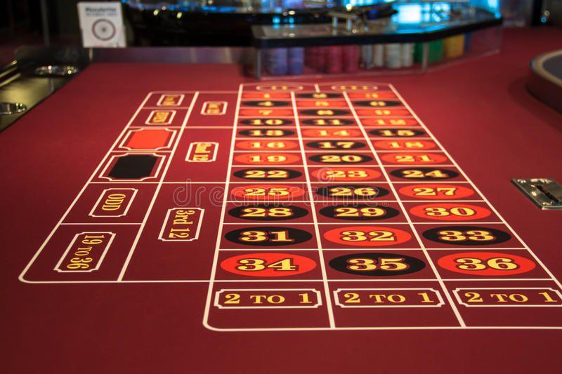 Roulette table in casino. Red in Las Vegas , Affiliate,