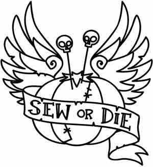 Sew or Die design (UTH3080) from UrbanThreads.com