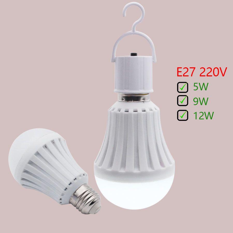 E27 Outdoor 5w9w12w Led Bulb Smart Emergency Night Lights