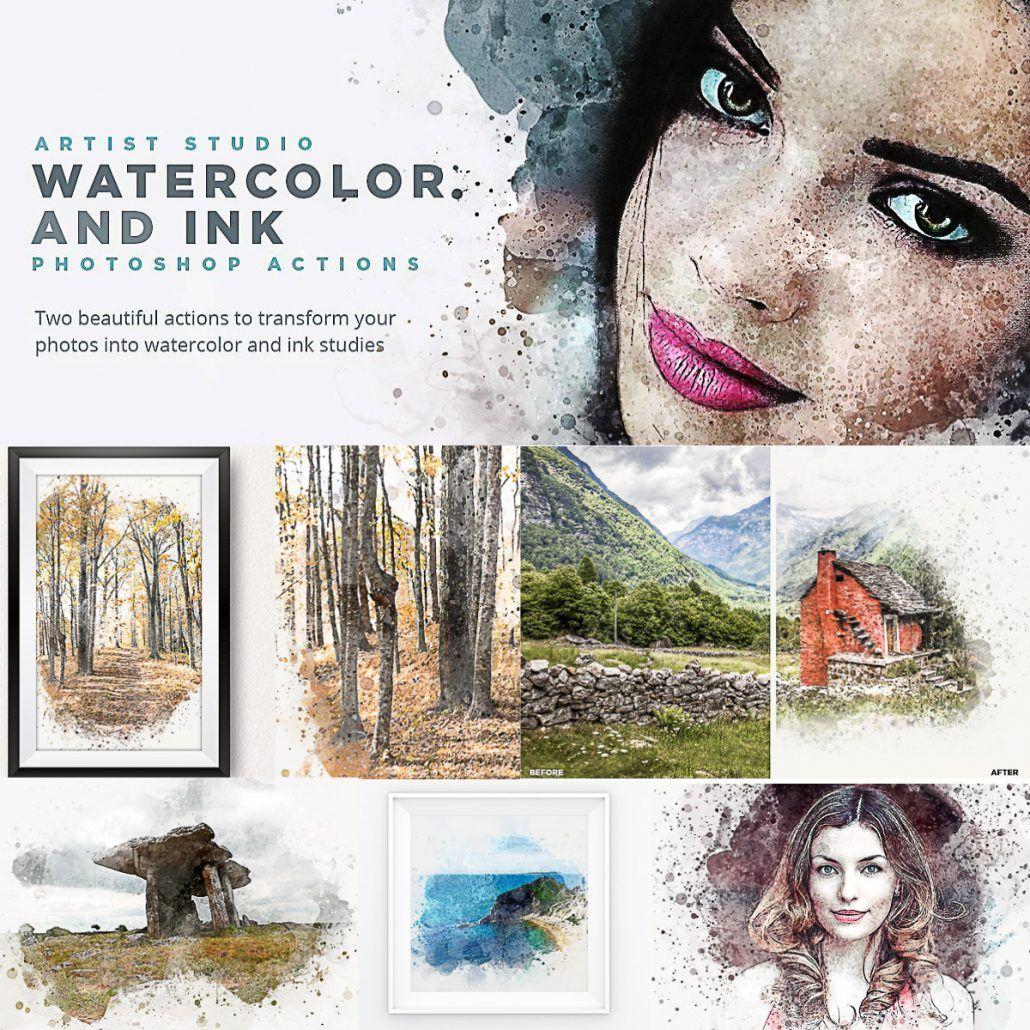 Easy Watercolor Portrait Free Photoshop Action Watercolor