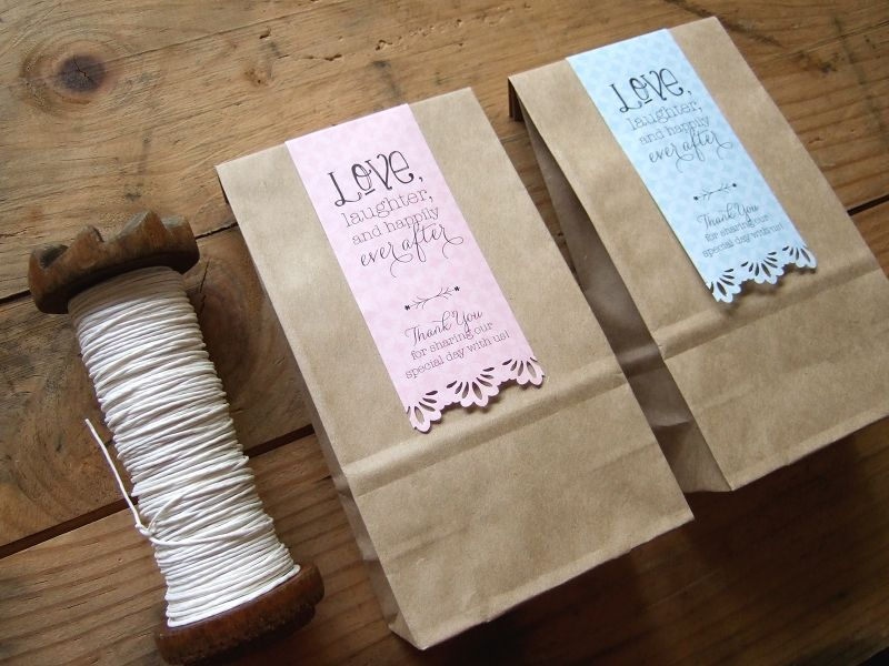 DIY wedding favor bag labels free download