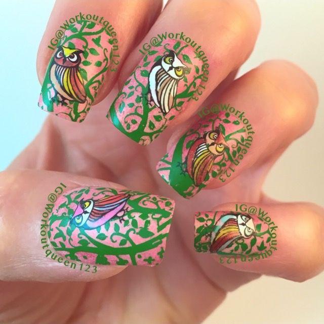 Favorite animal Owls nail art #fingerpaints Copper Elements, #loreal ...