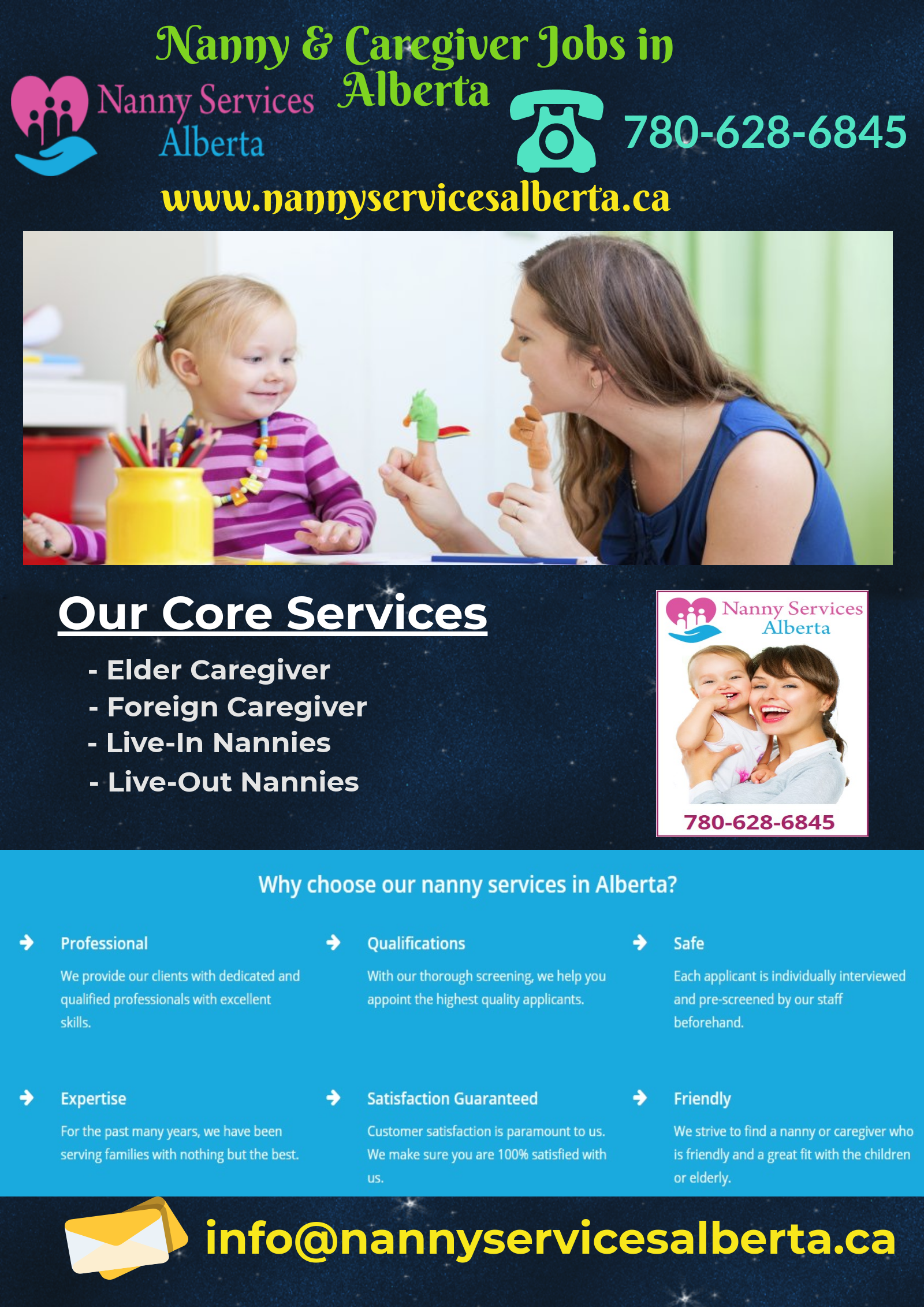 Professional Nanny & Caregiver Jobs in Alberta  We help you