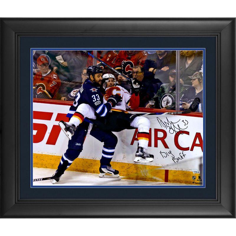"Dustin Byfuglien Winnipeg Jets Fanatics Authentic Framed Autographed 16"" x 20"" Finishing Check Photograph with Big Buff Inscription"