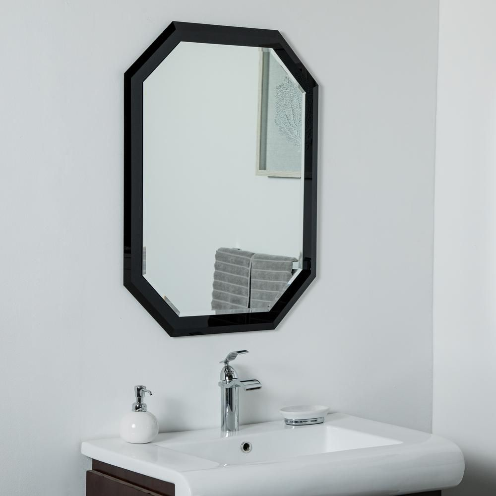 Decor Wonderland 32 In X 24 In Octagon Black Single Frameless