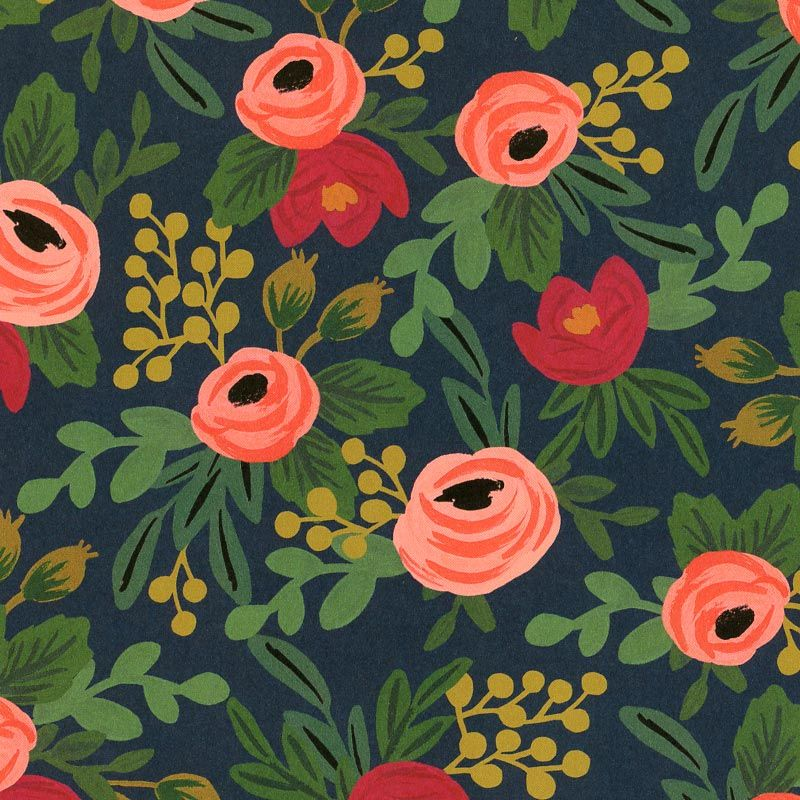 Rifle Paper - Rosa Print using the Red Orange and Field colored envelopes if the girls want jewel toned dresses.