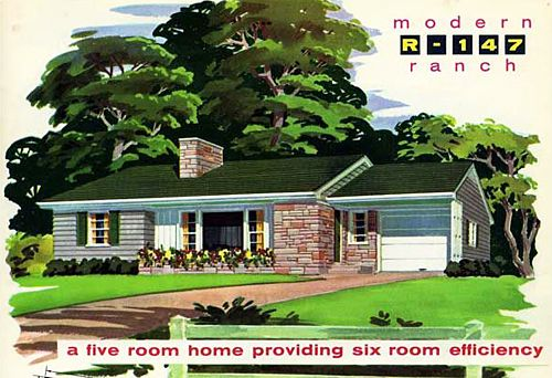 Mid century ranch homes are the new historic homes and - Colonial house exterior renovation ideas ...