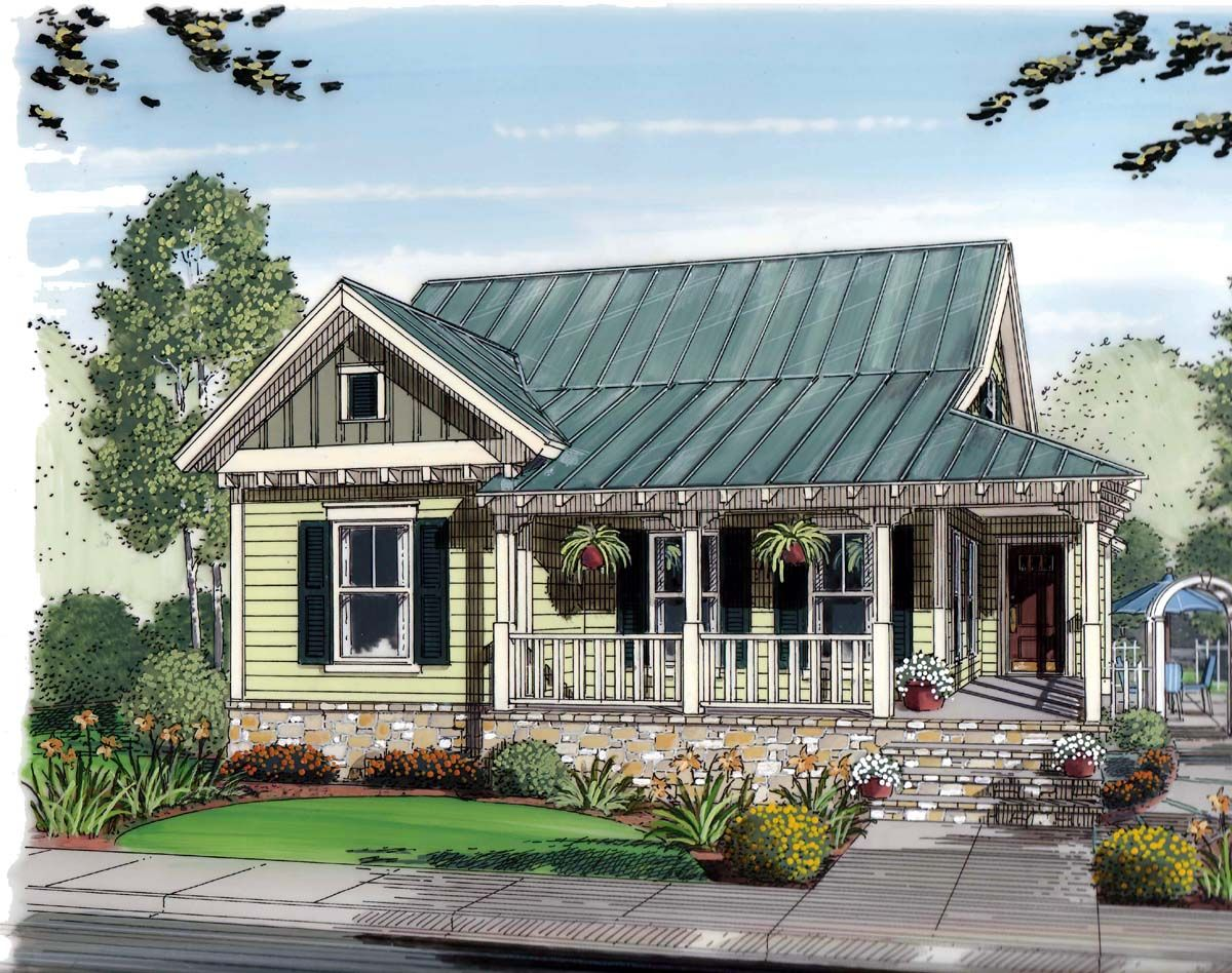 Tiny homes cottage country - Bungalow Cottage Country House Plan 30502 I Love The Separate But Attached Garage Layout