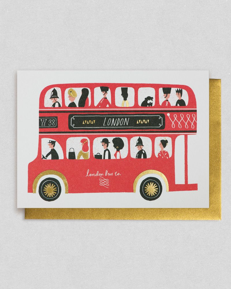London bus card lagom design and london bus greeting card by debbie powell lagom design double decker bus kristyandbryce Image collections