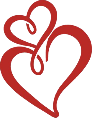 Double Heart Black And White Two Hearts Clipart - Free ...