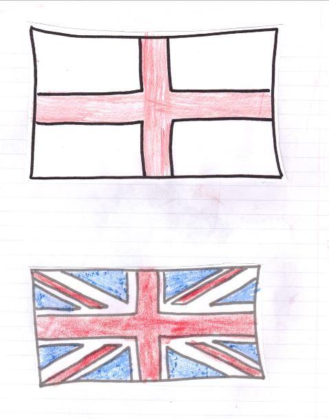 England and UK flag Printable International Day England, Theme
