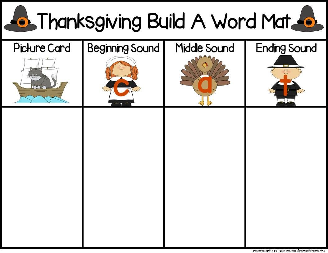 Thanksgiving Build A Cvc Word