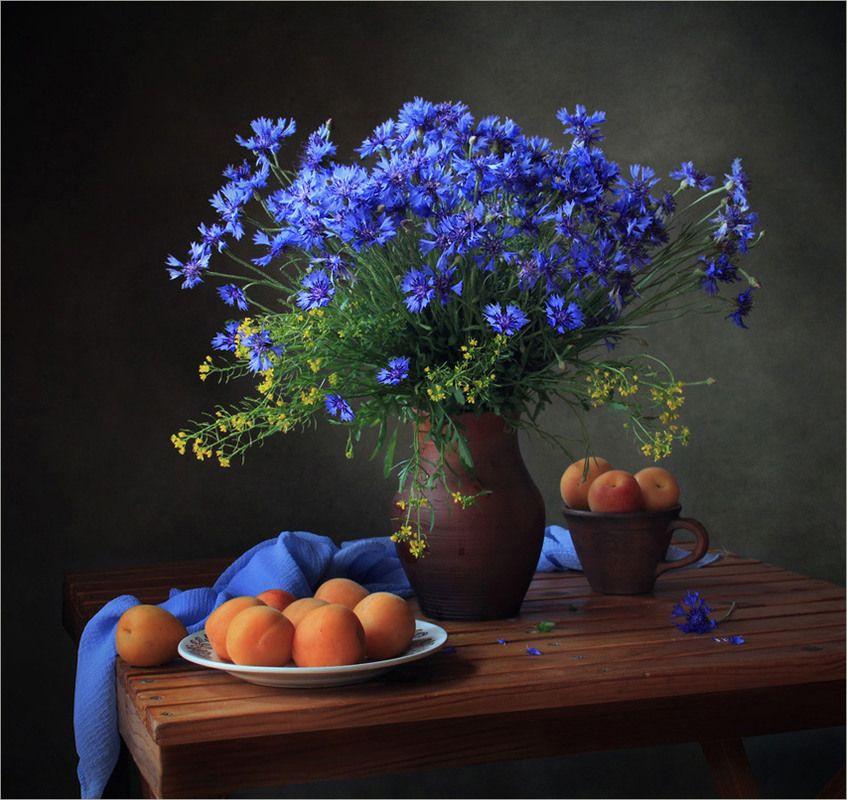 Фотография С васильками из альбома Натюрморты автора ...
