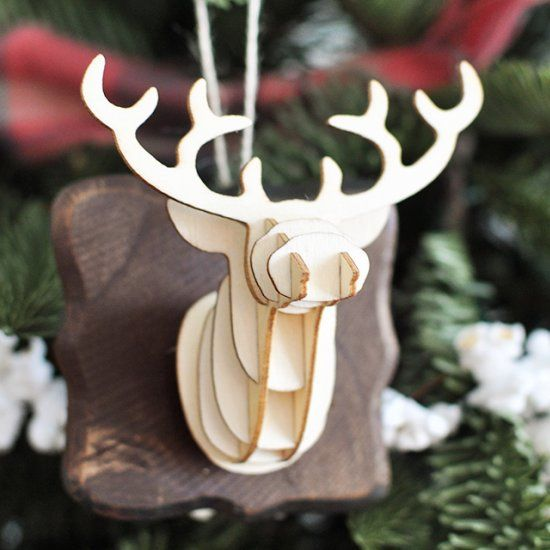 Make Your Own Mounted Deer Head Ornament This Christmas Season!