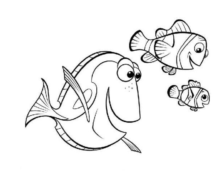 Finding Nemo Dory And Friends Way Street Coloring Pages For Kids Printable
