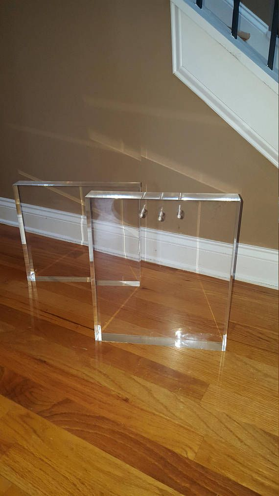 Acrylic- Lucite Bench Slab Base Set of 2 | Bench, Acrylics and ...