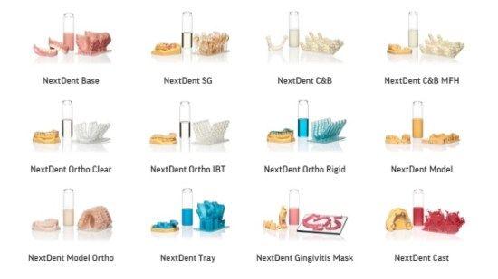 NextDent 3D pinter resins and indications | 3D Printing | Place card