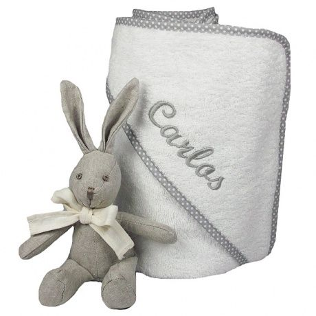 Toalla De Cocina 100/% de rizo de algodón toallas de mano bordado Animal Diseños Gris
