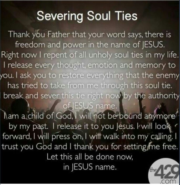 Breaking Soul Ties... Its Very Important To Say A