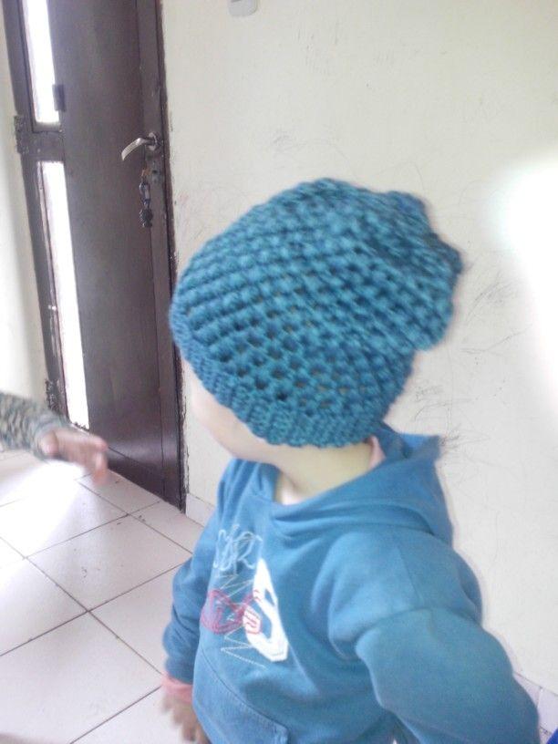 Boina caída  Técnica crochet